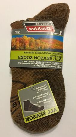 1-Pair Dickies Men Ankle Socks Shoe Size 6-12 Merino Wool Li