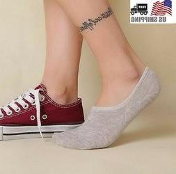10 Pack Women Ankle No Show Socks Cotton Nonslip Loafer Boat