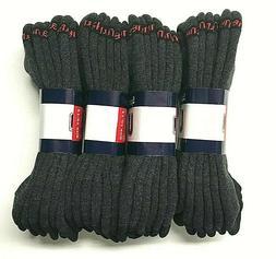 12 Pair Hanes  Men's Black Cotton Stretch Athletic Low Cut S