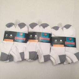 18 Pairs Fruit of the Loom Mens Cushioned No Show Socks Shoe