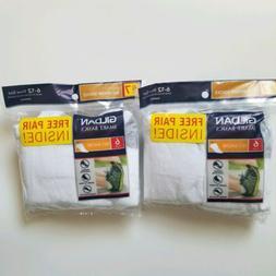 2 Packs New Gildan Men's No Show Socks White Size 6-12 14 pa