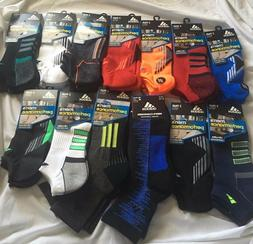 2 Pair Adidas Socks Men's Shoe Size 6-12 No Show, Ankle, Cho