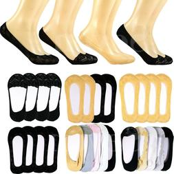 3-12 Pairs Women Low Cut No Show Socks Nonslip Invisible Fla