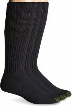 3 Pair Gold Toe Mens Cushioned Long Crew Work/Athletic Socks
