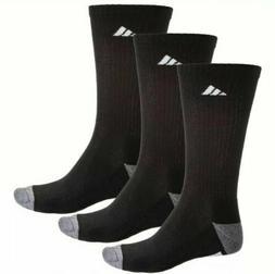 3-Pair Pack Adidas Men 6-12 QTR CREW Socks Cushioned Climali