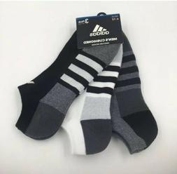Adidas 3-pair Stripe Men NO SHOW Socks Cushioned Climalite M