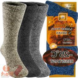 3 Pairs Winter Merino Lambs Wool Heavy Duty Thermal Boots So