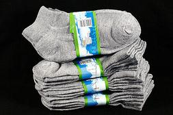 4-6 Kid's Boys Girls Ankle Cut Comfort Light Gray Socks Cott