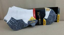 4pk Gold Toe Mens White Ankle Socks Pack Size 10-12 Low Cut