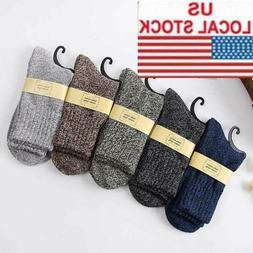 5 Pairs Men's Wool Mixture Angora Cashmere Warm Soft Thick C