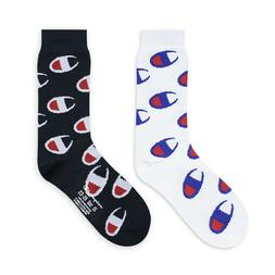 5 Pairs Champion Socks Full Length Unisex Mens Womens Logo C