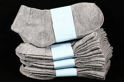 6-8 Kids Boys Girls Ankle Cut Comfort Light Gray Socks Cotto