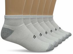 Champion 6 Pack Men's Quarter Ankle White Socks Size 10-13