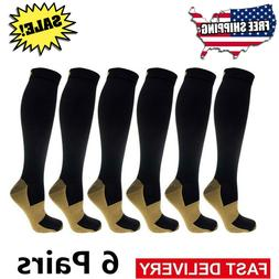Copper Compression Socks 20-30mmHg Graduated Support Mens W