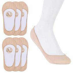 6 Pairs Nude Womens No Show Socks Footies Loafer Boat Liner