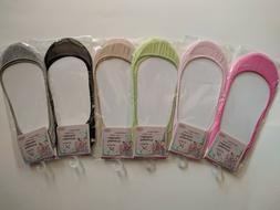 6 Pairs Women No Show Socks Foot Liner Ballet Footie Low Cut