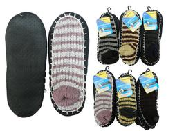 8 Pairs Men COZY FUZZY Non Skid SOLID w/ Rubber Grips SOFT W