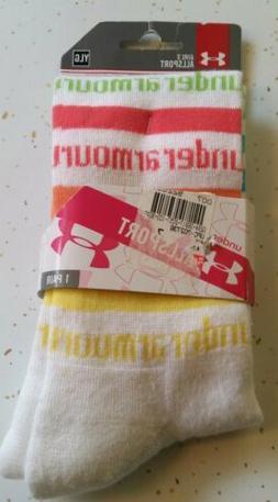 Under Armour Allsport Heatgear girls socks YLG multicolor