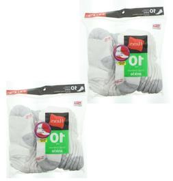 Hanes Boys' Ankle Socks, Pack 10