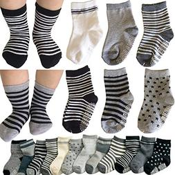 Kakalu® 6 Pairs Assorted Non Skid Ankle Cotton Socks Baby W