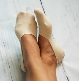 Beige Cotton No-Show Socks NWT Classy Closet Boutique Women'