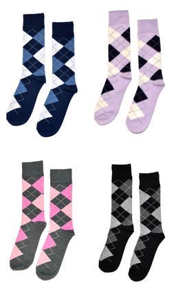 Big & Tall Mens Dress Socks Argyle Diamond Premium Cotton We