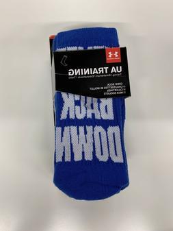 Under Armour Boy's UA Phenom Crew Socks, 3 Pack, Size 13.5K-
