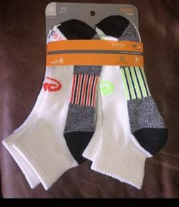 Boys 6pack Champion Active Performance Ankle Socks Size 3-9