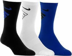 Nike Boys Youth Performance Cushioned Crew Socks 3 Pk Sz Sma
