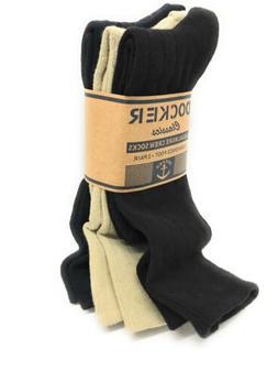 Dockers Men's 5 Pack Classics Dress Argyle Crew Socks, Khaki