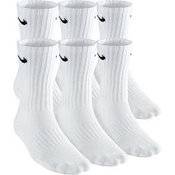 NIKE Boys' Performance Cushion Crew Socks with Band , White/