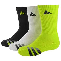 adidas Boys Cushion Crew Socks , Semi Solar Yellow/Black - W