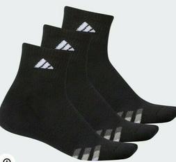 adidas Men's Cushioned Low Cut Socks , Black/White/Light Oni