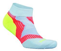 Balega Women's Enduro Low Cut Socks, Cool Blue/Coral/Neon Ye