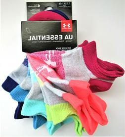 Under Armour Essential Girls' Big Logo No Show Socks 6 PR Sm