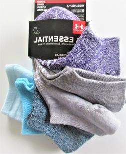 Under Armour Essential Girls No Show Assorted Color Socks6