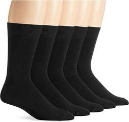 essentials solid dress socks 5 pack black