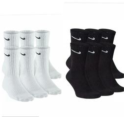 Men Nike Everyday Performance Crew Length Socks 1, 3, or 6 P