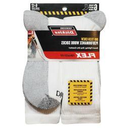 Dickies Genuine Mens 5-Pair Crew Style Work Socks - Black wi