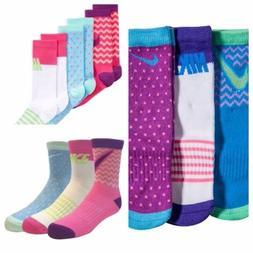 Nike Graphic Cotton Crew Socks  Girls/Kids/Youth 9C-3Y Pink/