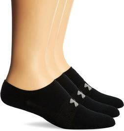 Under Armour Men's HeatGear Solo No-Show Socks , White, Larg