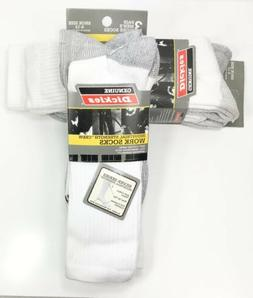 Dickies - Men's Industrial Strength Cushion Crew Work Socks,