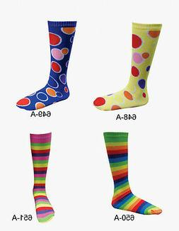 Kids Circle and Striped Knee Socks By Dress Up America