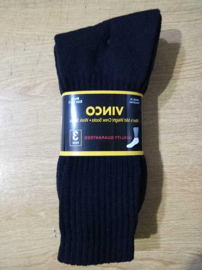 3 6 Pairs Work Athletic Socks Cotton Size 10-13