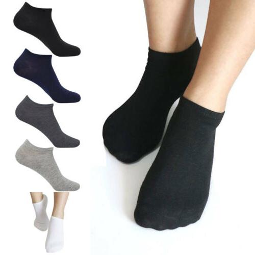 5 Pairs Women Men Socks Ankle High Low Cut Soft Casual Cotto