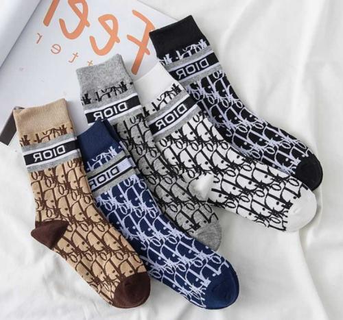 logo women socks cotton middle tube socks
