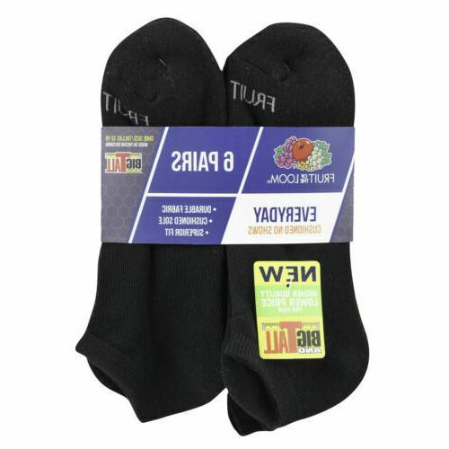 """Fruit of the Men's Durable Show Socks 6 """" &"""