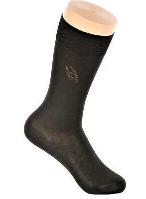 mens cotton mid calf dress socks black