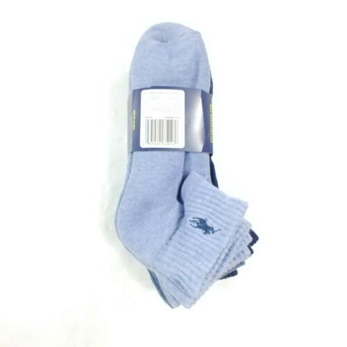 Mens Socks Ankle Cushioned Lauren 6 Pack Size 6-12.5