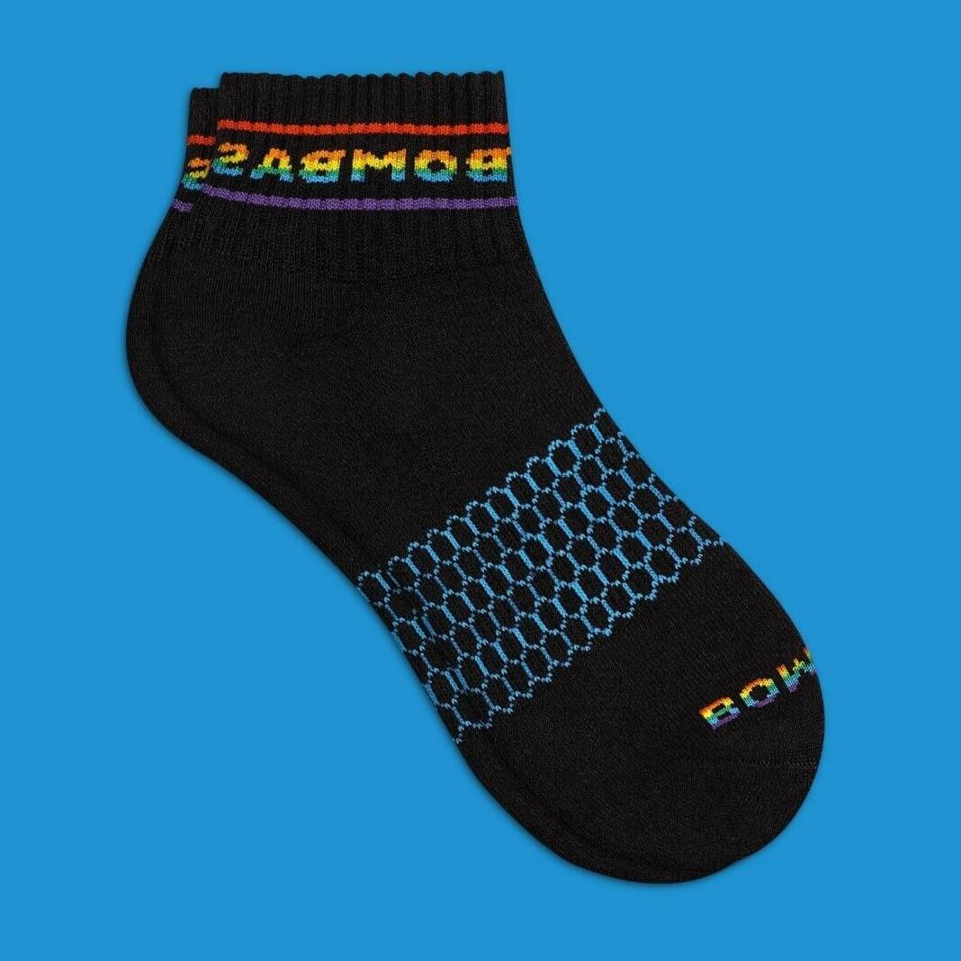 multi color rainbow pride 1 4 socks
